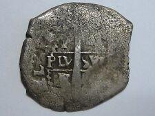 SPANISH COLONIAL 1 REAL COB POTOSI PHILIP IV ASSAYER E PIRATE SILVER COIN