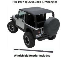 Jeep Extended Bikini Top with Windshield Header for 97-06 Jeep TJ Wrangler