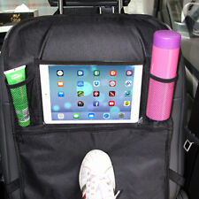 Car Back Seat Cover Organizer Waterproof Kick Mat Back Storage Protector Black