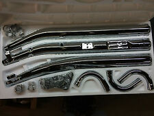 Kawasaki H2 H2B 750 Complete Chrome Exhaust 3-3 74 75 Restore Project