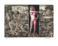 Ex Libris Bookplate Exlibris Etching Josef Dudek - Czechia