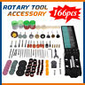 166pcs Mini Electric Drill Grinder Accessories Rotary Tool Grinding Polish Kit