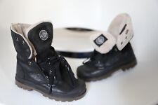 Palladium Baggy Leather Boot Black Pilot Toddler size 10.5