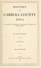 1912 CARROLL County Iowa IA, History and Genealogy Ancestry Family Tree DVD B38