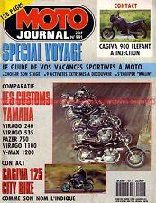 MOTO JOURNAL  991 Essai Test YAMAHA 1200 Vmax FZX 750 XV 240 535 1100 Virago