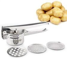 Potato Ricer Masher Stainless Steel Vegetable Fruit Masher Food Press Kitchen