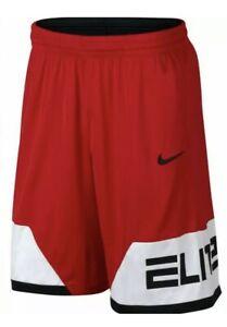 NWT Men's Red Black Nike Dri-Fit Elite Basketball Shorts Size Medium MSRP $35
