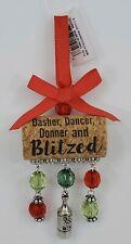 Ganz Merry Wine-mas Dasher Dancer Donner Blitzed Wine Bottle Cork Ornament