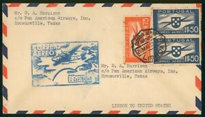 Mayfairstamps Portugal Pan American Airways Lisbon Cover wwp_65183
