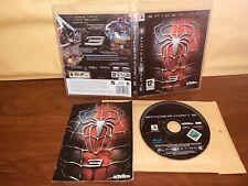 Spiderman 3 PAL ESP  Playstation 3 PAL PS3 Manual Algo Arrugado