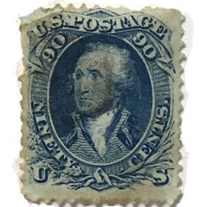 1861 #72 90c Washington, Blue. Used Rare Stamp.