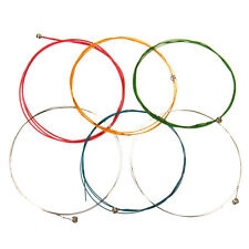6pcs set multicolore arc-en-acoustic guitar strings colourful qualité en acier