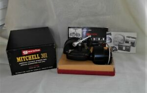 Vintage Garcia Mitchell 301  Reel with Box & Manual Matching Serial Numbers