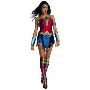 Justice League Wonder Woman Adult Womens Costume, 820654, Rubies