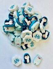 60 Mini Penguin Polar Bear Snowflake Erasers Teacher Supply Sorting Math Counter