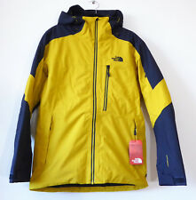 The North Face Men's Fourbarrel Insulated Dryvent Ski Jacket Leopard Yellow M
