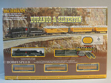 BACHMANN N SCALE DURANGO & SILVERTON TRAIN SET steam engine passenger  24020 NEW