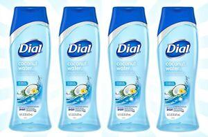 4 Dial Coconut Water Hydrating Body Wash Healthy Skin Rich Lather 16 OZ