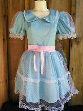 CREEPY Blue DOLL DRESS w/ Hair Clip COSPLAY Horror Costume Women's SMALL - NWT