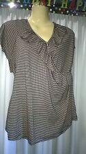 Womans Crossroads Top, Size XL, Stripes, Polyester / Elastane