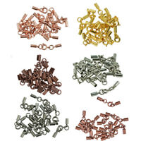12pcs Round Spring Ring Clasp Tube Bells Crimp Ends Jewelry Making Supplies