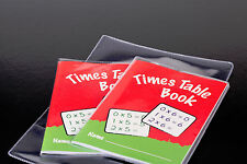 10x clear plastic A6 size EXERCISE BOOK & BOOKLET COVERS 150mm x 215mm