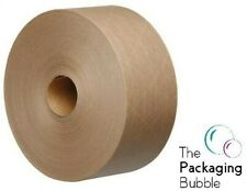 More details for gummed paper tape roll 70mm x100m eco friendly water activated reinforced