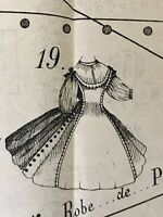 April 1863 SEWING PATTERNS for  DOLLS and ladies (Tracings)