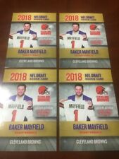 2018 4 FOUR BAKER MAYFIELD RC ROOKIE LOT NFL DRAFT GOLD PLATINUM ONLY 2000 MADE