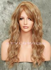 Light Brown/Blonde Mix Long Heat OK Wavy Lace Front Synthetic Wig SATE 8/27/613