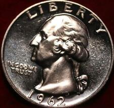 Uncirculated Proof 1962 Philadelphia Mint Silver Washington Quarter
