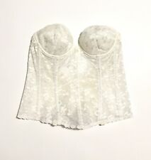 Vtg Corset Bra Womens 34 B Lace Union Made Preowned Double Hook
