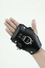 Premium Black Leather Hand Cuffs For Adult Play - BDSM (Cuff3)