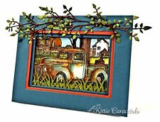 Classic Truck Wood Mounted Rubber Stamp IMPRESSION OBSESSION NEW G1866