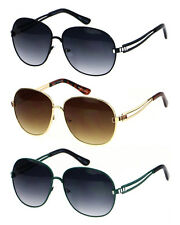Wholesale Lots 12 Pairs High Quality Woman Fashion Over Size Metal Sunglasses