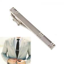 New Mens Alloy Metal Simple Silver Color Necktie Tie Pin Bar Clasp Clip Gift