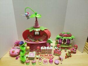 Strawberry Shortcake Cafe & Juice Bar 9 Figures + 53 Pcs Lot in good shape