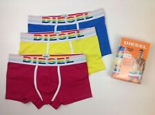 Mens Diesel Fresh & Bright Trunks 3 Pack Rainbow Colours Size Large