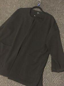 Black Edge To Edge Next Summer Jacket Size 18 Excellent Condition