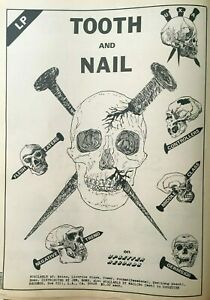 GERMS, TOOTH & NAIL comp rare orig 1979 FULL PAGE PRINT AD, LA KBD PUNK, U.X.A.
