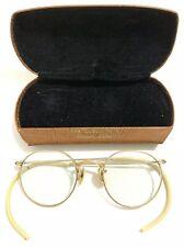 1/10 12K Gold GF Prescription RX Eyeglasses Frames Glasses 1950s Bakelite VTG