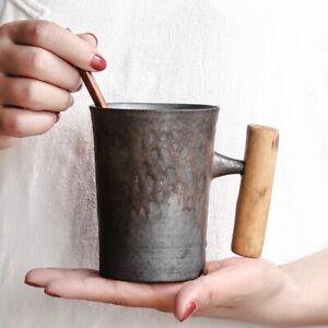 Japanese-style Vintage Ceramic Coffee Mug Tumbler Rust Glaze Tea Milk Beer Mug