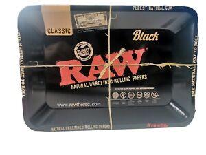 Original Raw Black Classic Rolling Tray 18cm X 12.5cm