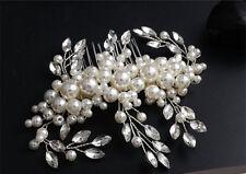 Haarkamm Braut Hochtzeit Tiaras Blumen Perle Haarschmuck