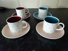 FOUR SUSIE COOPER COFFEE CUPS/CANS  AND SAUCERS