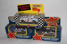 SET OF 3 MATCHBOX RACING SUPERSTARS, KULWICKI RACING, JEFF BURTON ROOKIE, ETC