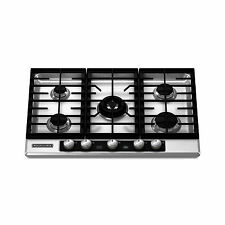 "KitchenAid 30"" 5-Burner Gas Cooktop Stainless Steel Architect Series II KFGU706V"
