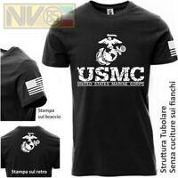 Maglia T-SHIRT Payper Militare Marines Marine Corps USMC Maglietta Uomo Nero BW