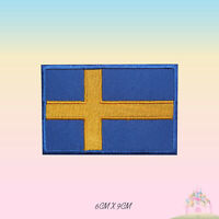 Sweden National Flag Embroidered Iron On Patch Sew On Badge Applique