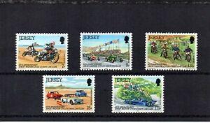 Jersey 1980 60th Anniv of Motorcycle & light car club - Set of 5 MNH - Sg 233/37